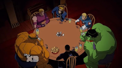 Avengers Earth's Mightiest Heroes poker