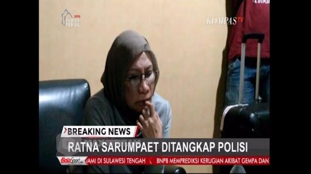 Video Detik-detik Penangkapan Ratna Sarumpaet di Bandara Soekarno-Hatta saat akan Pergi ke Cile