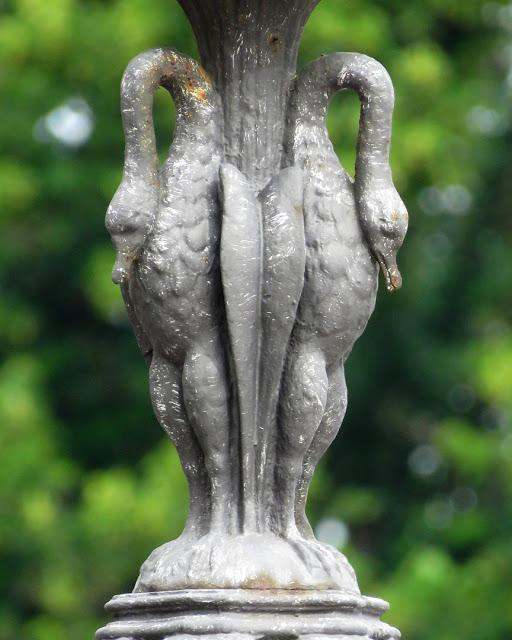 Detail of a lamp post in Piazza della Repubblica, Livorno