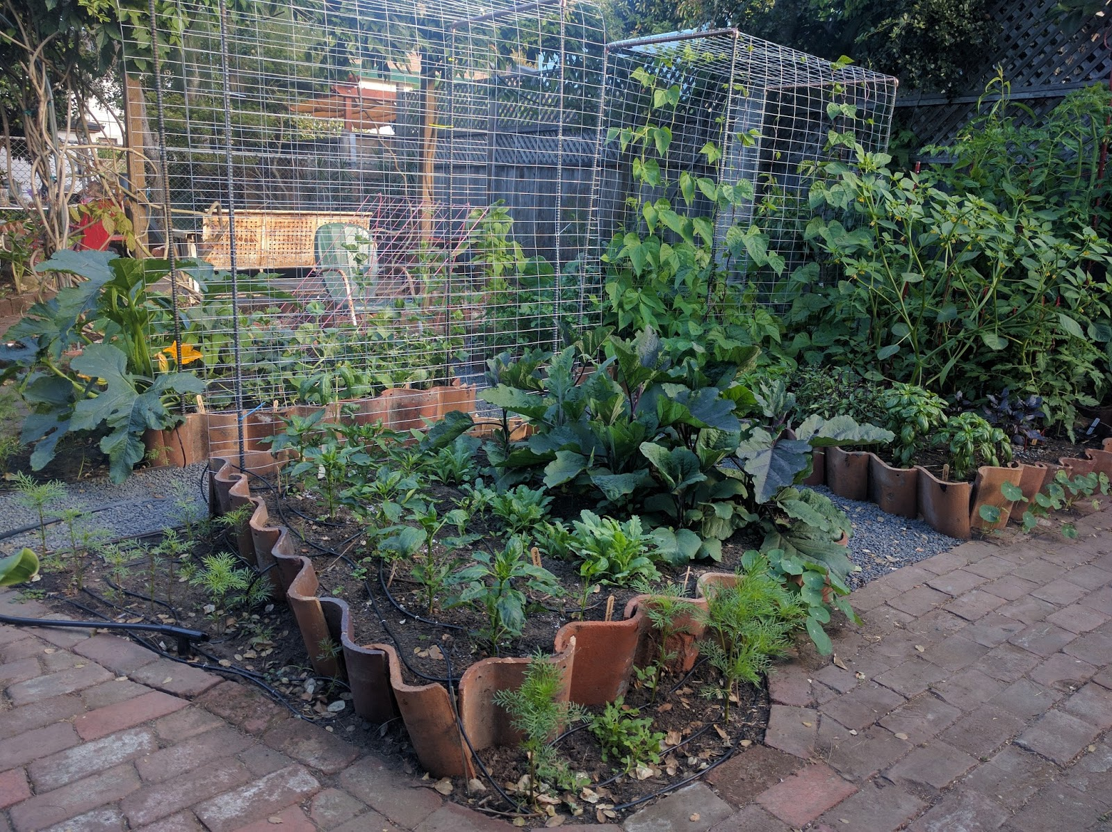and without further ado heres my garden recipe for building raised beds with terra cotta tiles
