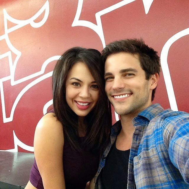 Brant Daugherty Visits Janel Parrish on DWTS