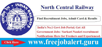 RAILWAY, Railway, North Central Railway, RRB, Group C, Sports Quota, 10th, Uttar Pradesh, freejobalert, Sarkari Naukri, Latest Jobs, nc railway logo