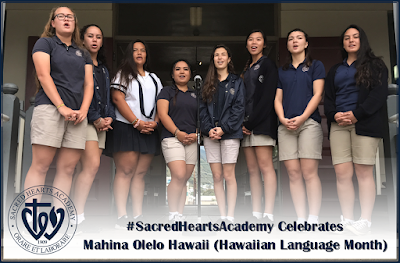 Sacred Hearts Celebrates Mahina Olelo Hawaii (Hawaiian Language Month)