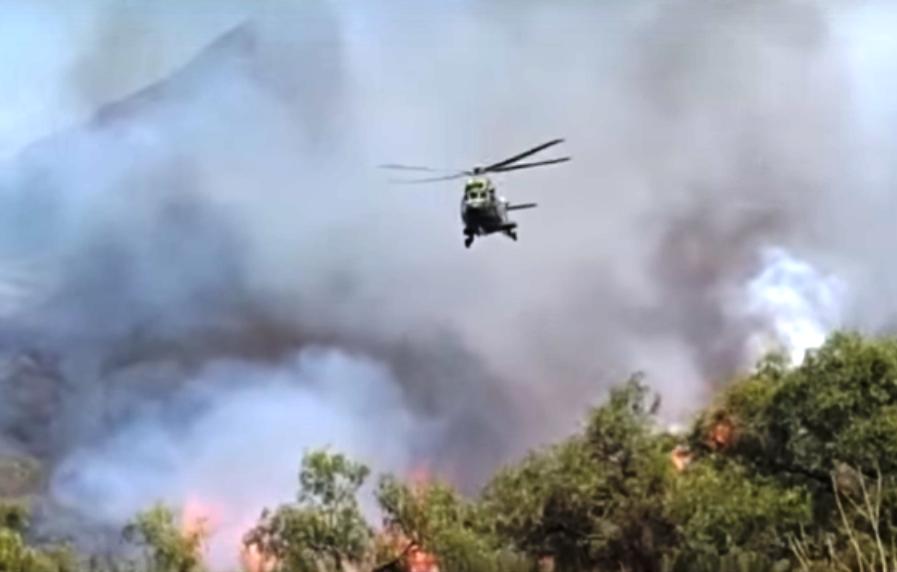 Helicóptero súper puma de la FAB, captado por testigos, fue utilizado en las tareas de sobrevuelo en Sama