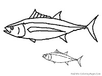 Tuna Delicious Tropical Fish Coloring Pages