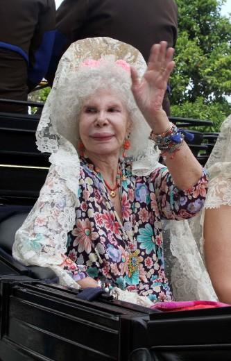 La duchessa d'Alba la donna più titolata al mondo: le