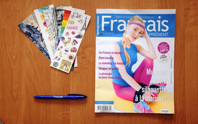 """""""Français Présent 45/2018"""" + dodatki dla frankofilów - okładka gazety - Francuski przy kawie"""