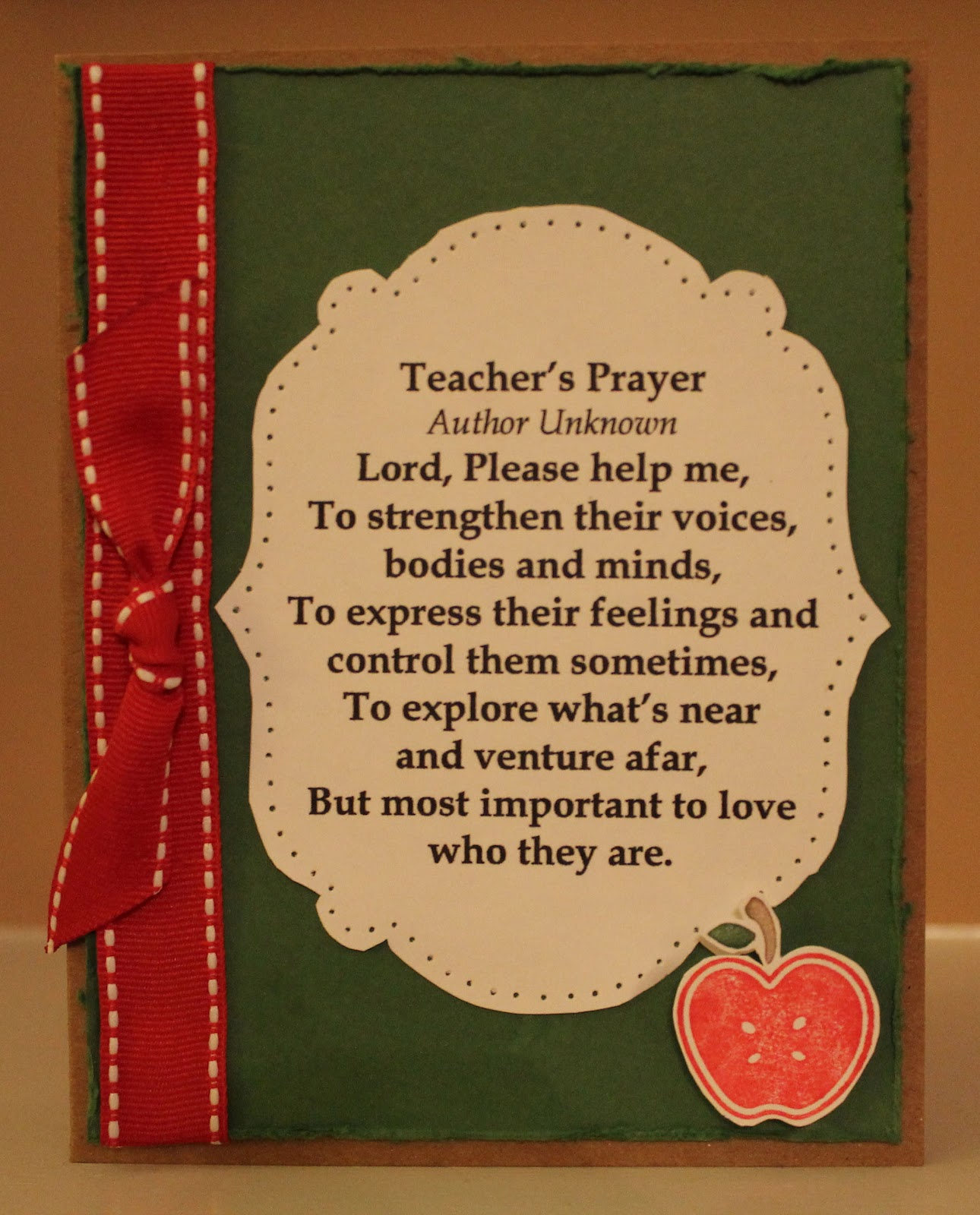 Teachers Poem Or Prayers