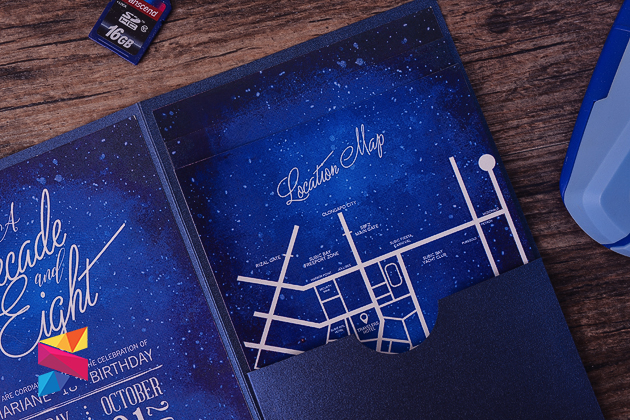 Starry Night Themed Debut Invitation - Stunro CreativeWorks