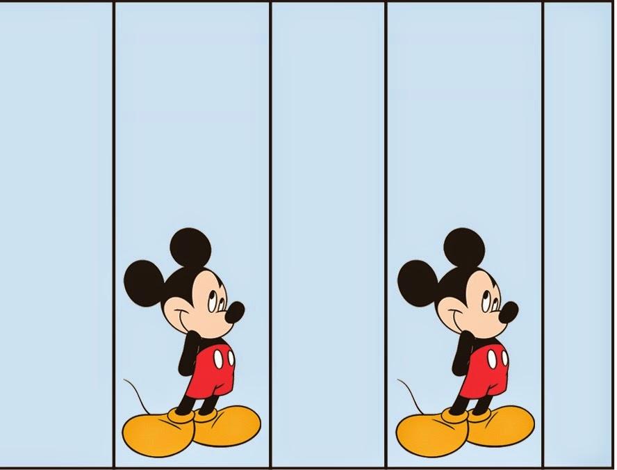 Etiquetas para Imprimir Gratis de Mickey.