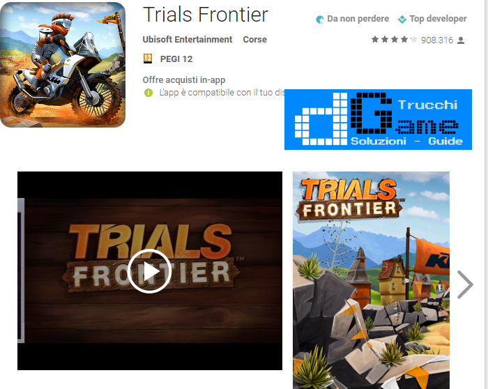 Trucchi Trials Frontier Mod Apk Android v4.8.1