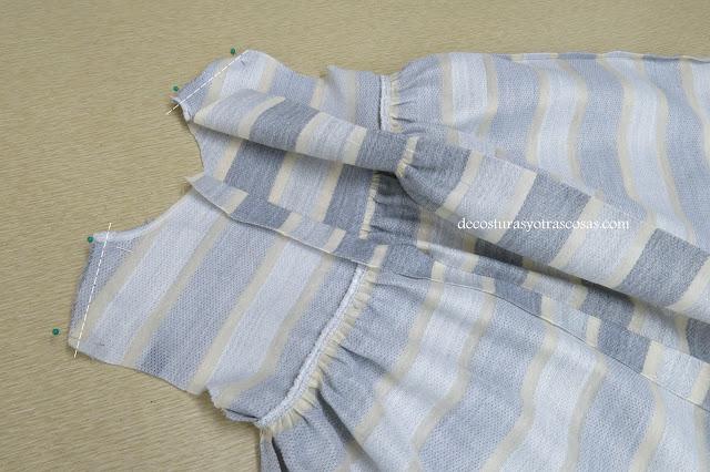 vestido para niña forrado de algodón