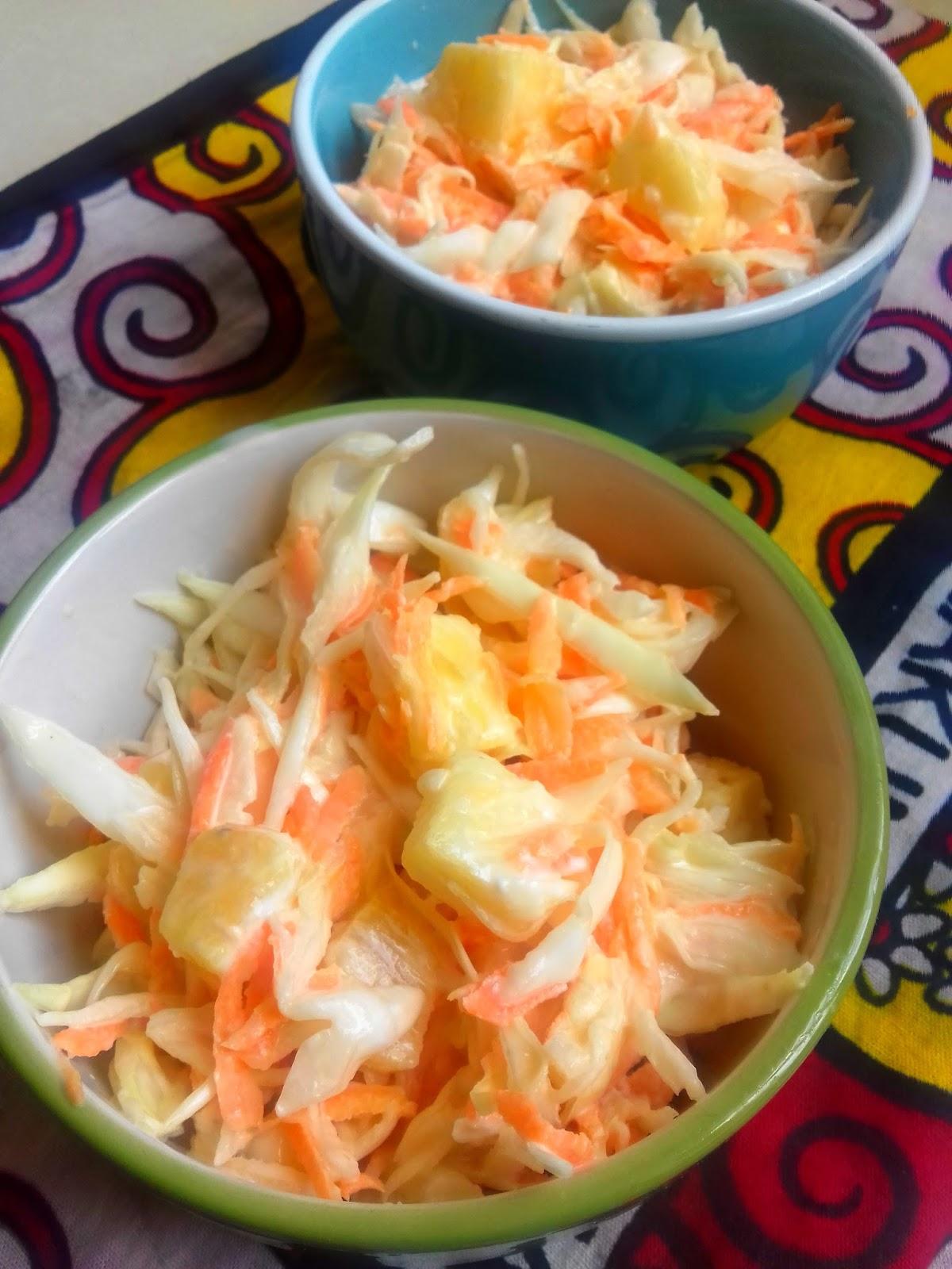 Pineapple Coleslaw Salad Nairobi Kitchen
