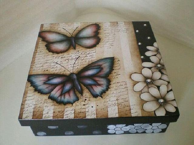Painted, DIY shoe box