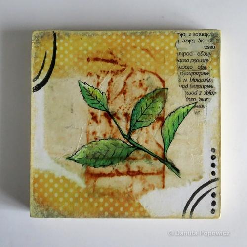 Herbaciany kolaż - tryptyk