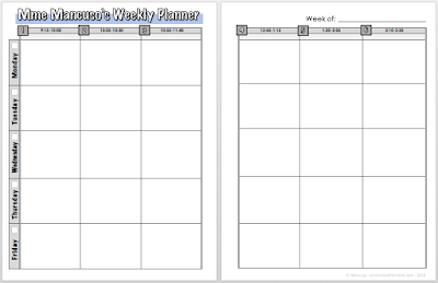 6-Period Weekly Planner Template