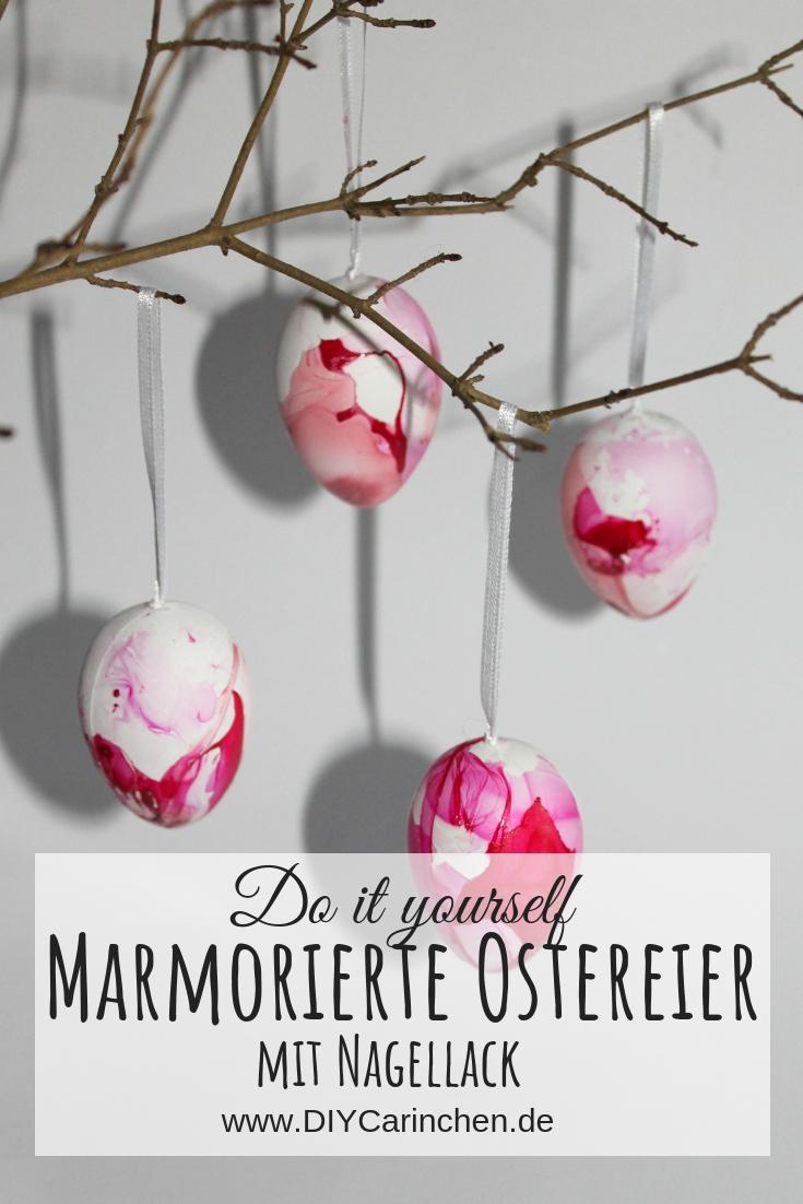 Ostereier färben mal anders: DIY marmorierte Ostereier mit Nagellack ganz einfach selber machen