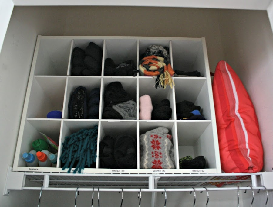 Winter gear storage