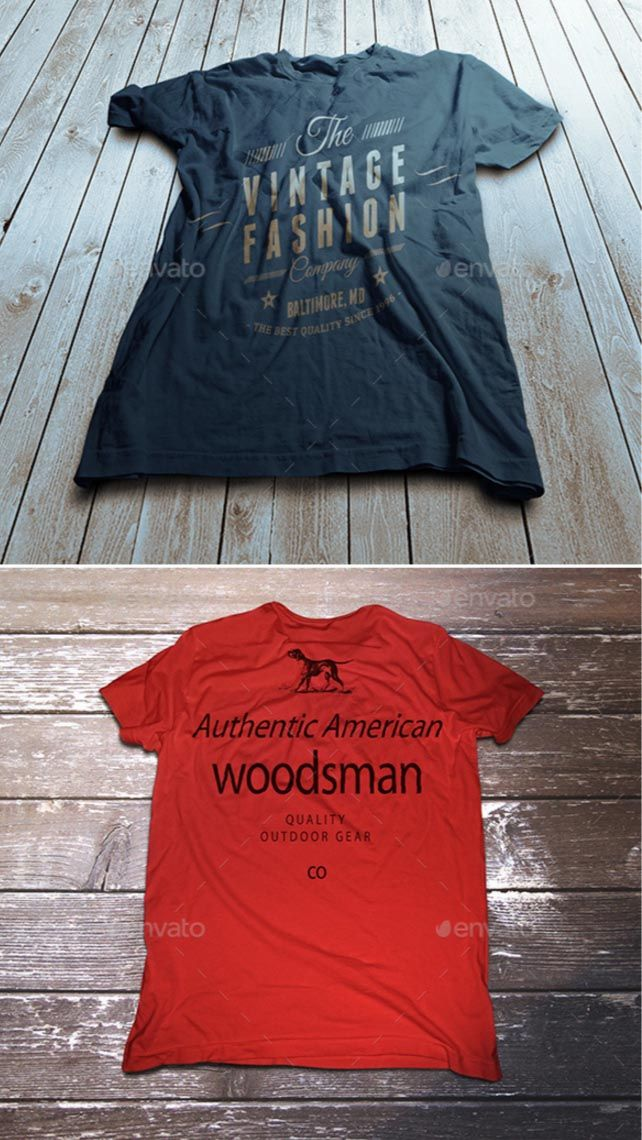 4. Vintage T-Shirt Mockup