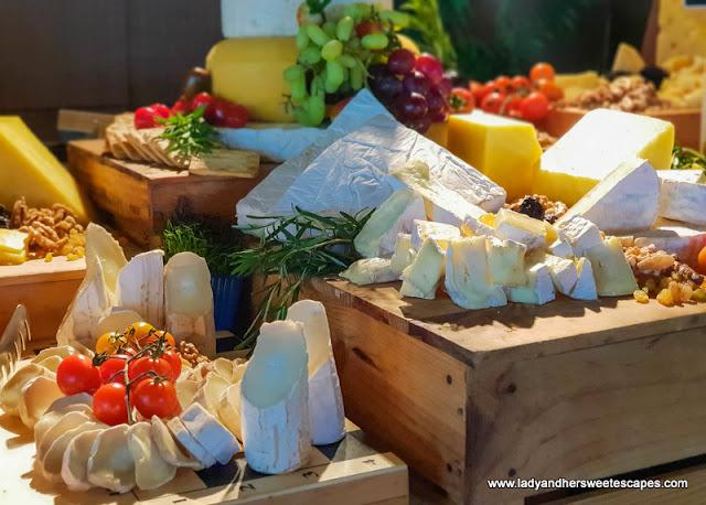 cheese board in Fujairah Rotana Buffet