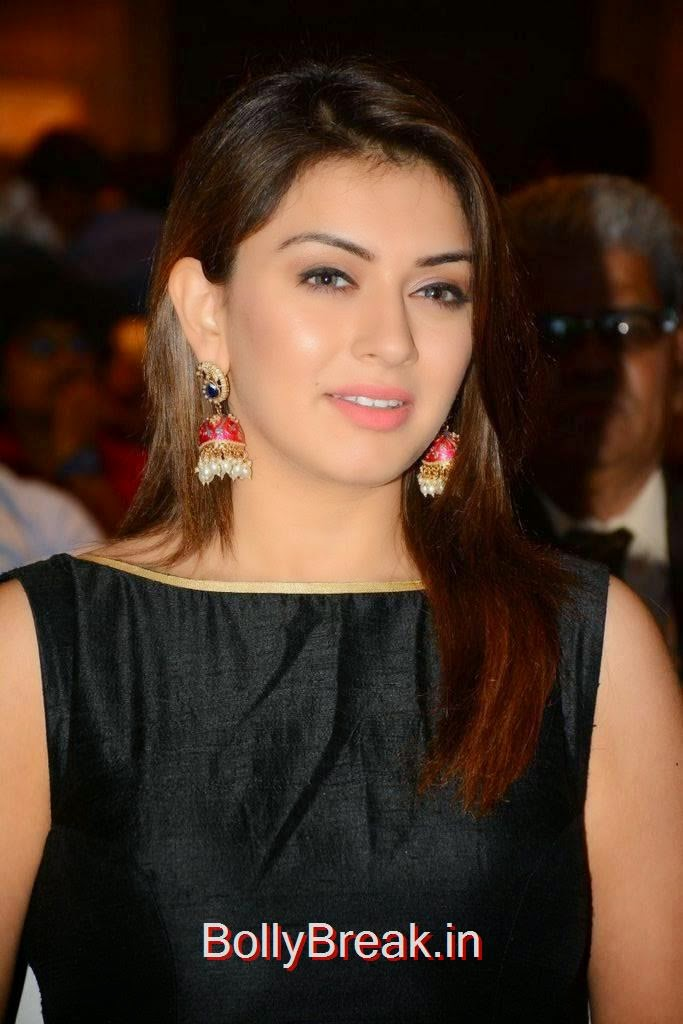 Hansika Photo Gallery, Hansika Latest Hot Pics In Black Dress from Emerald Flats Launch Event