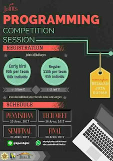 Lomba Programming Level Nasional 2017 di UGM