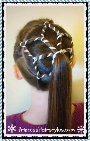 snowflake ponytail winter hairstyles