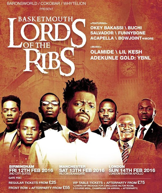 Basketmouth Lords of the ring Valentine UK 2016 Tour