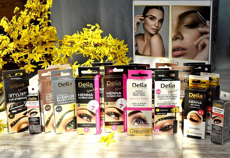 Delia Cosmetics kosmetyki do makijażu, pielęgnacji i koloryzacji brwi