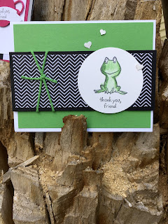 Froggy card made with Stampin' Up! Lots of Love and Pop of Pink DSP