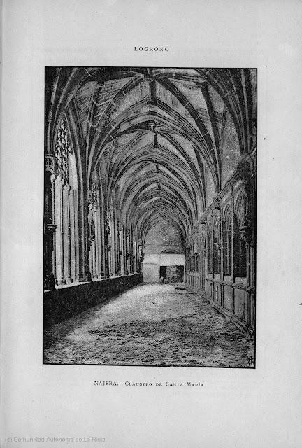 Nájera. Claustro de Santa María. 1886