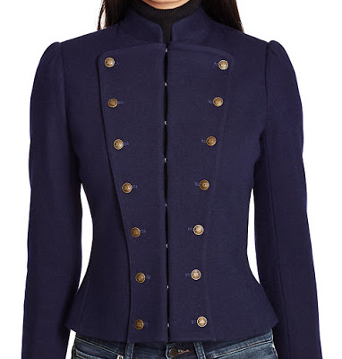 Ralph lauren wool blend military jacket