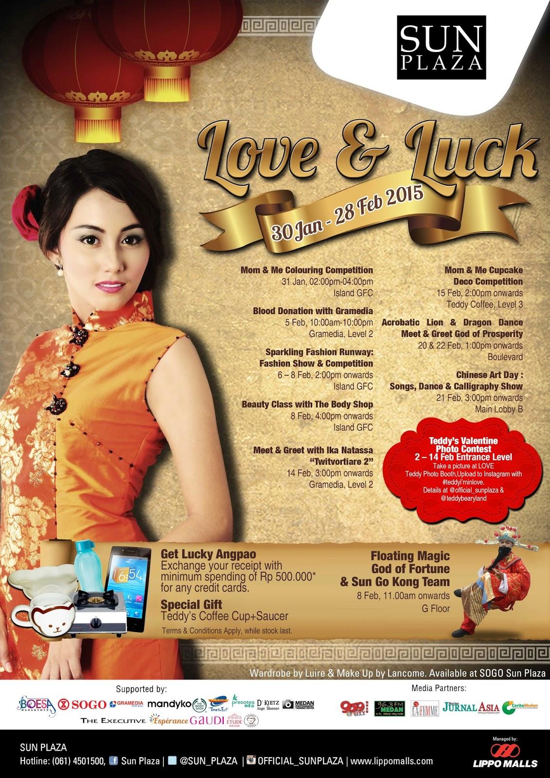 Sun Plaza Persembahkan Love & Luck di Tahun Baru Imlek 2566