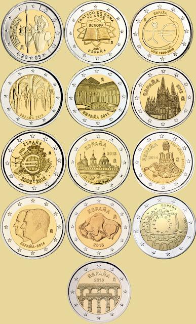 Monedas de dos euros, España
