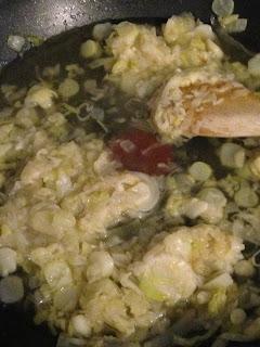 Pastel de pollo y puerros , preparación 6