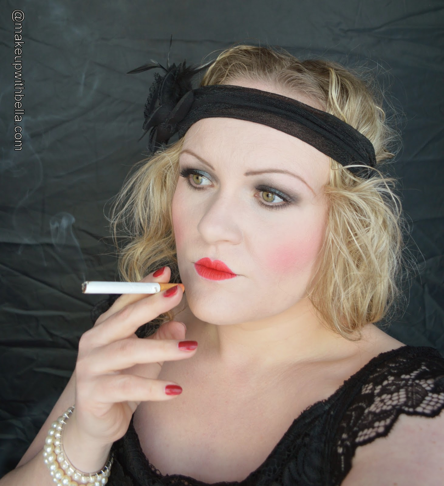 Here is my interpretation of the 20s makeup look: