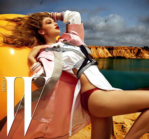 Gigi Hadid hot model in sexy photoshoot W Korea Magazine