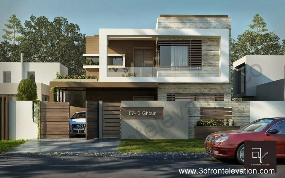 Front Elevation Of 7 Marla Houses : D front elevation marla modern contemporary
