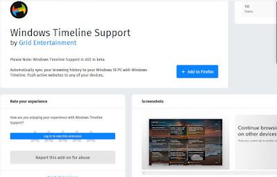 Windows Timeline on Browser