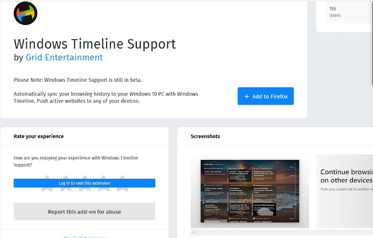 Feature Windows Timeline dan Continue Browsing Tersedia Untuk Google Chrome, Firefox dan Vivaldi Browser