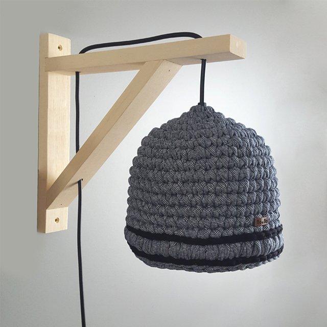 Nó a nó Crocheteria - luminária de crochê