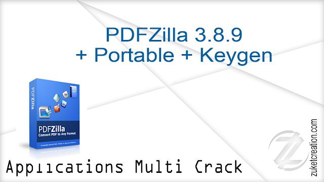 PDFZilla 3.8.9 + Portable + Keygen  |  82.9 MB