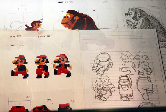 first versions donkey kong