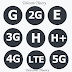 Ultimate guide to Internet Symbol G, E, 2G, 3G, H, H+, 4G, 5G