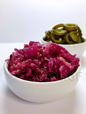 Fermented Red Onions & Jalapenos