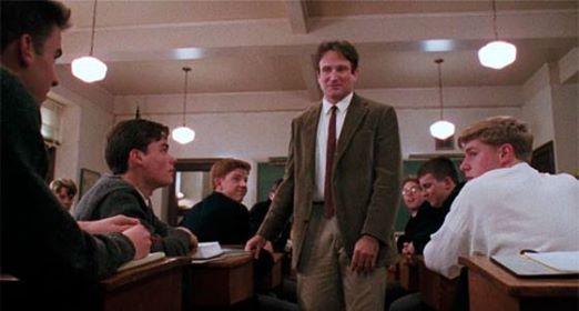 Robin Williams em Sociedade dos Poetas Mortos (foto: reprodução)