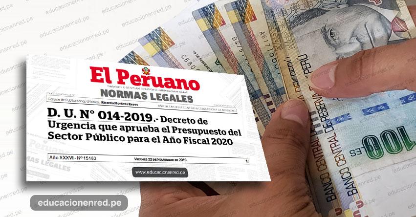 Sepa qué dice el Decreto de Urgencia sobre Aguinaldos, Graticaciones y Escolaridad 2020 (D. U. Nº 014 -2019)