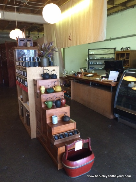 interior shop at Far Leaves Tea in Berkeley, California
