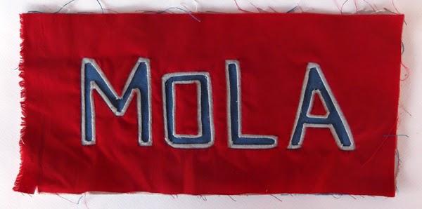 three layer mola, three colour mola, mola designs, mola tutorials, kuna indian culture, indian crafts, mola instructions, mola how to