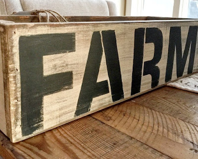 rustic farm crate